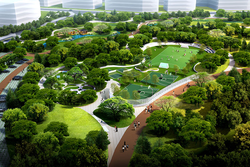 Sports Park in Xinchuan Heartbeat Central Park East Zone