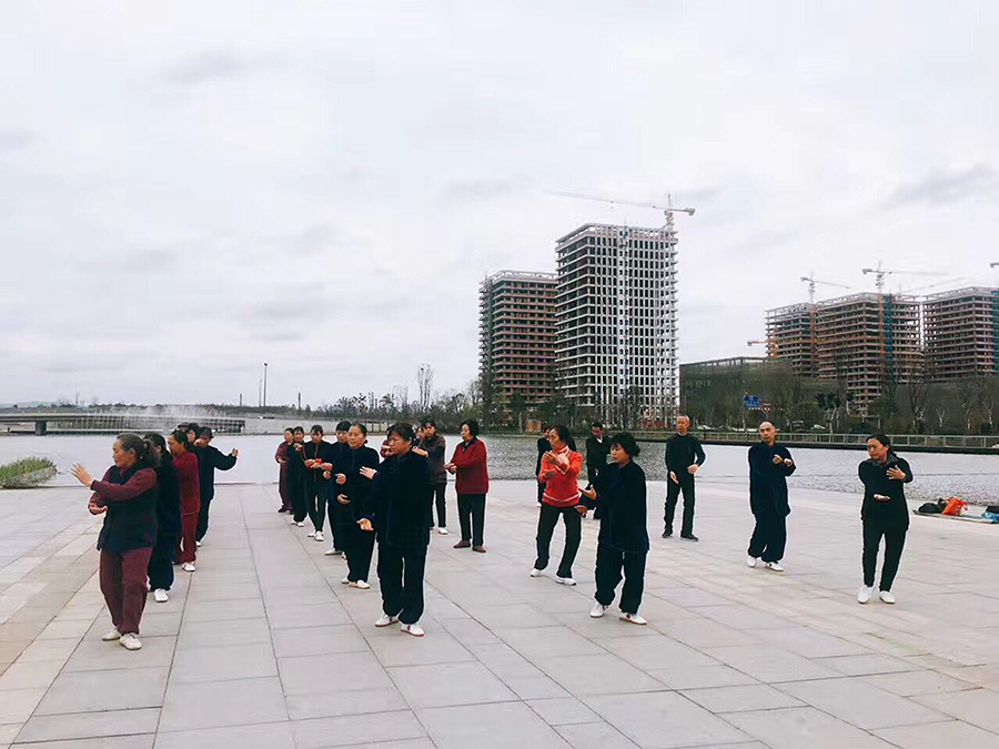 Morning Exercise in Xinchuan Heartbeat